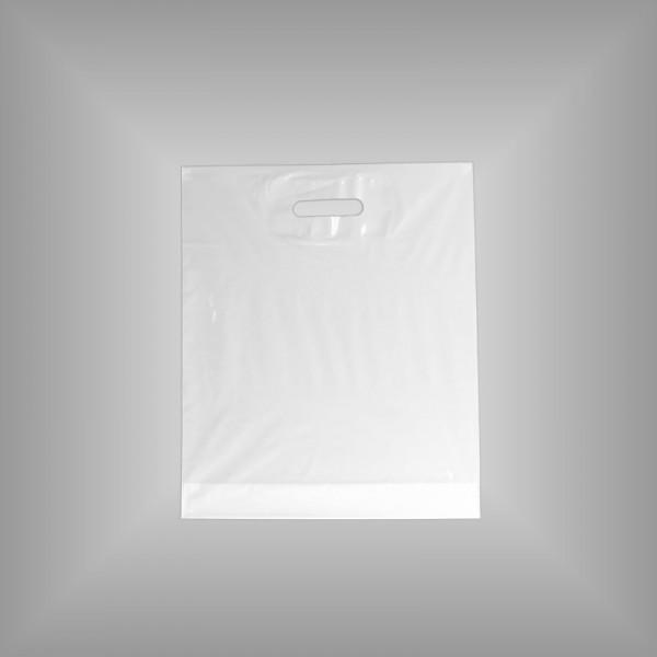 500 PE Tragetaschen weiß 37 x 43 + 5 cm