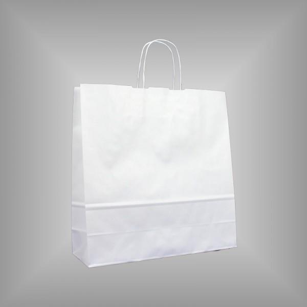 Papiertragetaschen weiß 36 x 12 x 37 cm