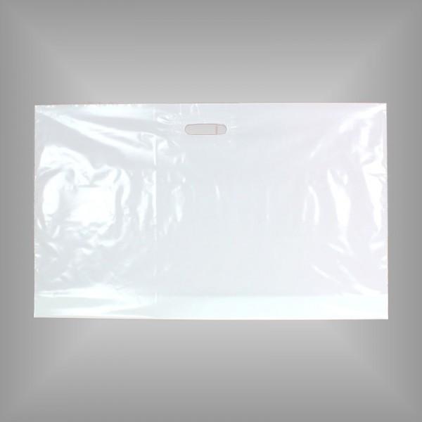 Plastiktüte weiß 76 x 45 + 5 cm