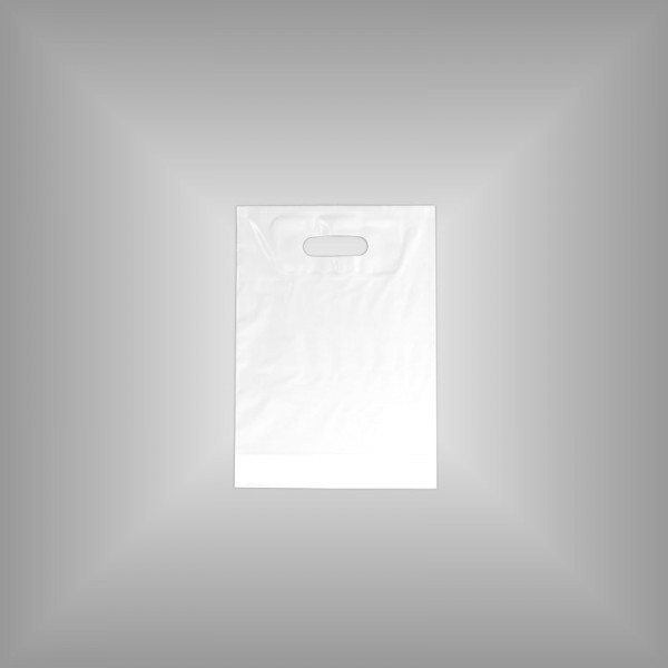 Plastiktüte weiß 25 x 35 + 4 cm