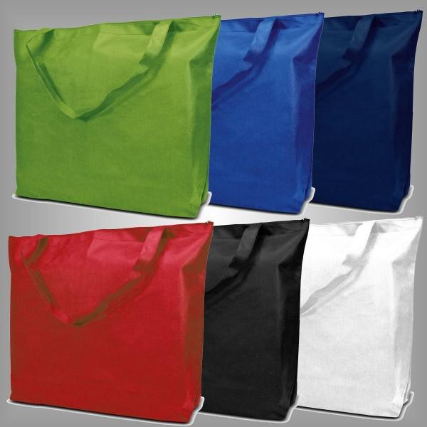 250 Textiltragetaschen 50 x 40 + 12 cm mit Reißverschluß