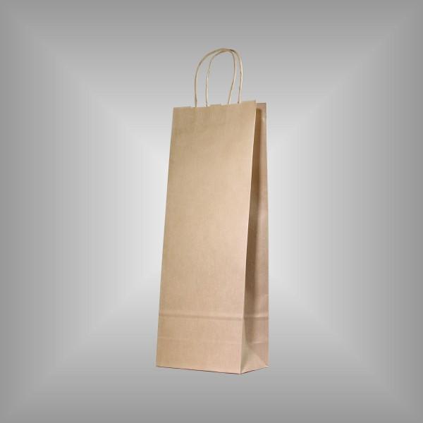 50 Papiertragetaschen braun 15 x 8 x 39,5 cm