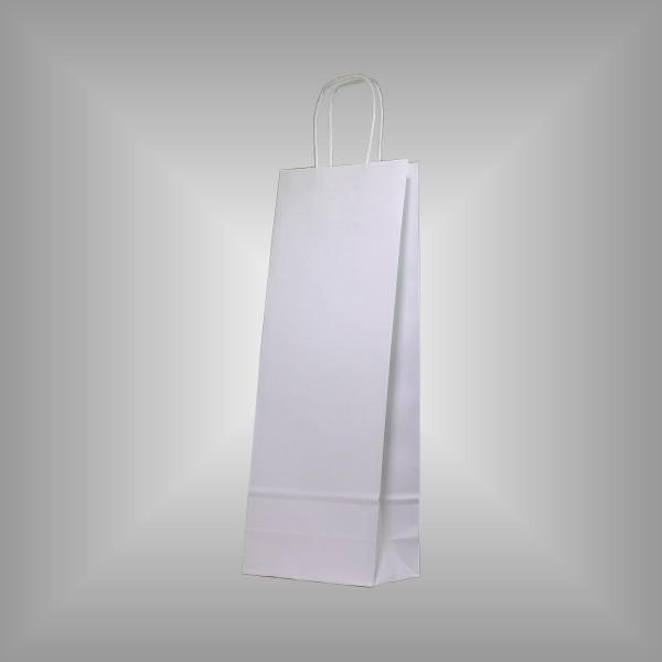 50 Papiertragetaschen weiß 15 x 8 x 39,5 cm