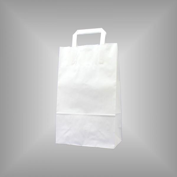 22 x 10 x 36 cm Papiertüten weiß 250 Sück
