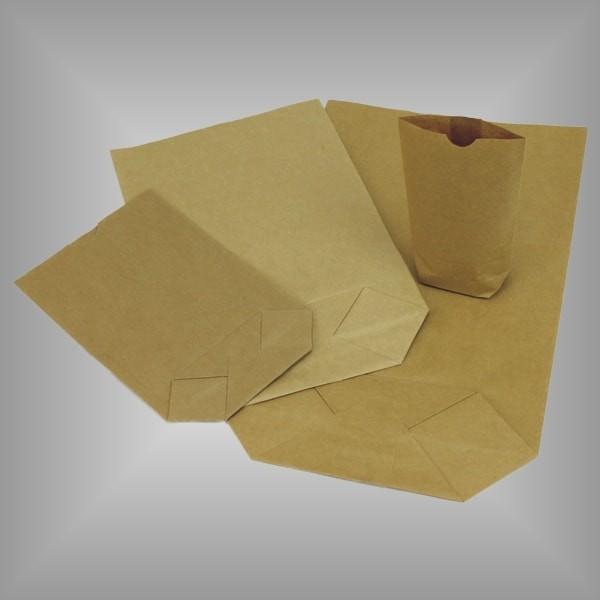 Papierkreuzbodenbeutel braun