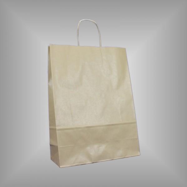250 Papiertragetaschen braun 32 x 13 x 42,5 cm