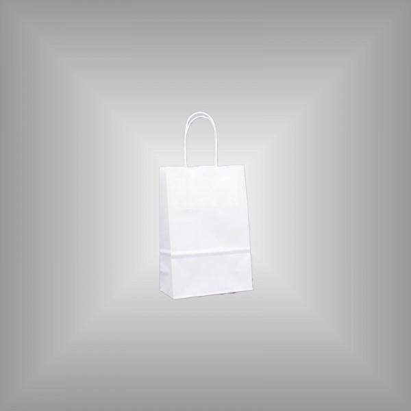 Papiertragetaschen weiß 14 x 7 x 21 cm