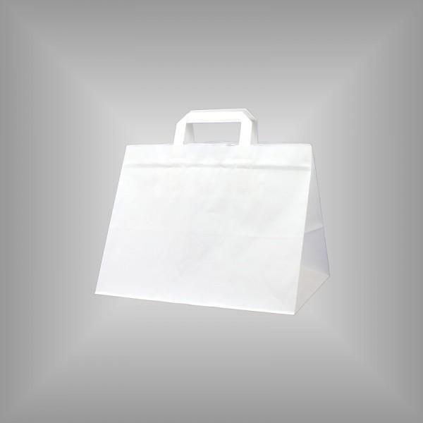 32 x 22 x 27 cm Papiertüten weiß 250 Stück