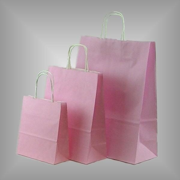 Papiertragetaschen rosa