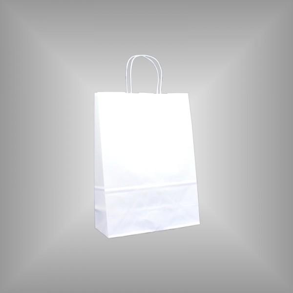 Papiertragetaschen weiß 23 x 10 x 32 cm