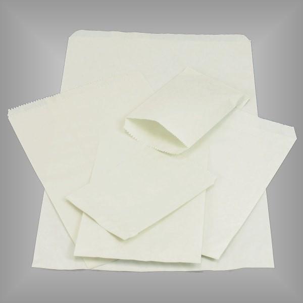 Papierflachbeutel rohweiß